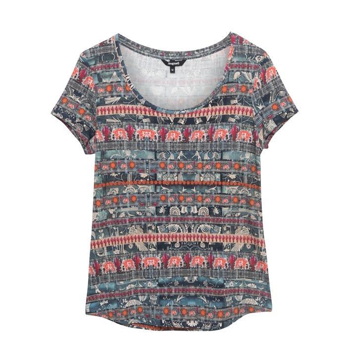 Desigual Women's T-Shirt Various Colours 192577 - bordeaux XS