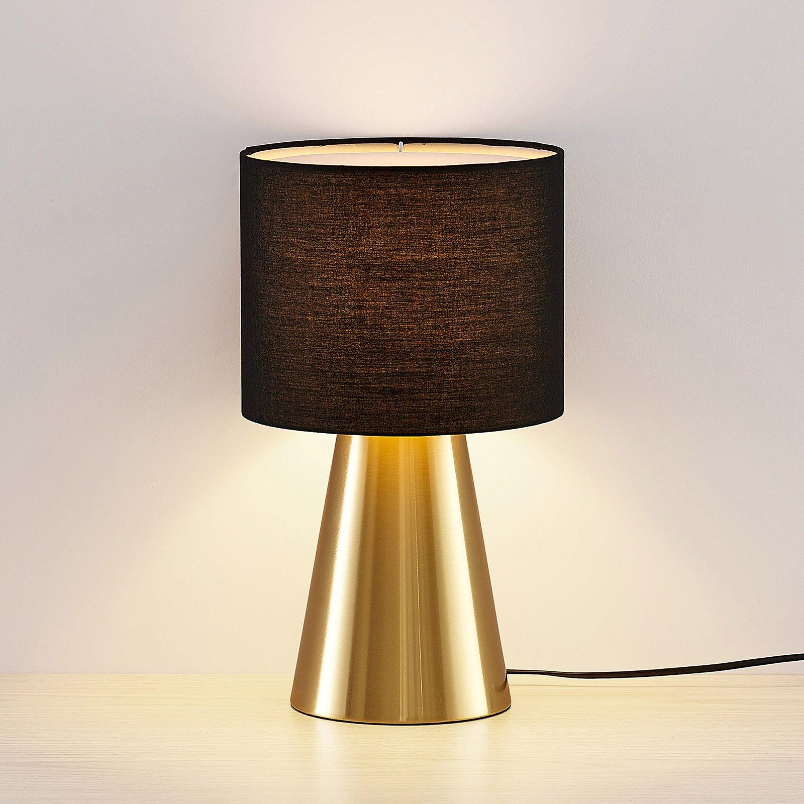 Lindby Erantie bordlampe i svart/hvitt