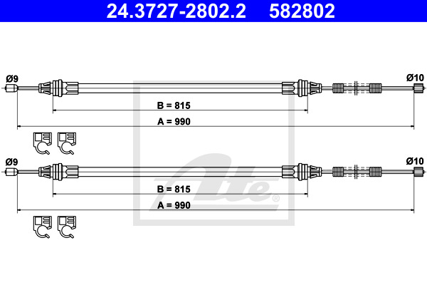 Käsijarruvaijeri ATE 24.3727-2802.2