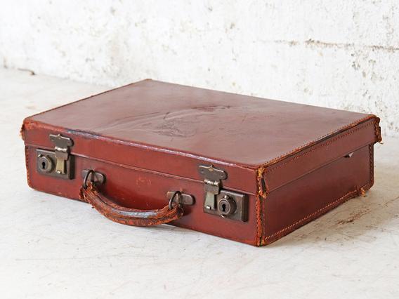 Vintage Brown Attache Case Brown