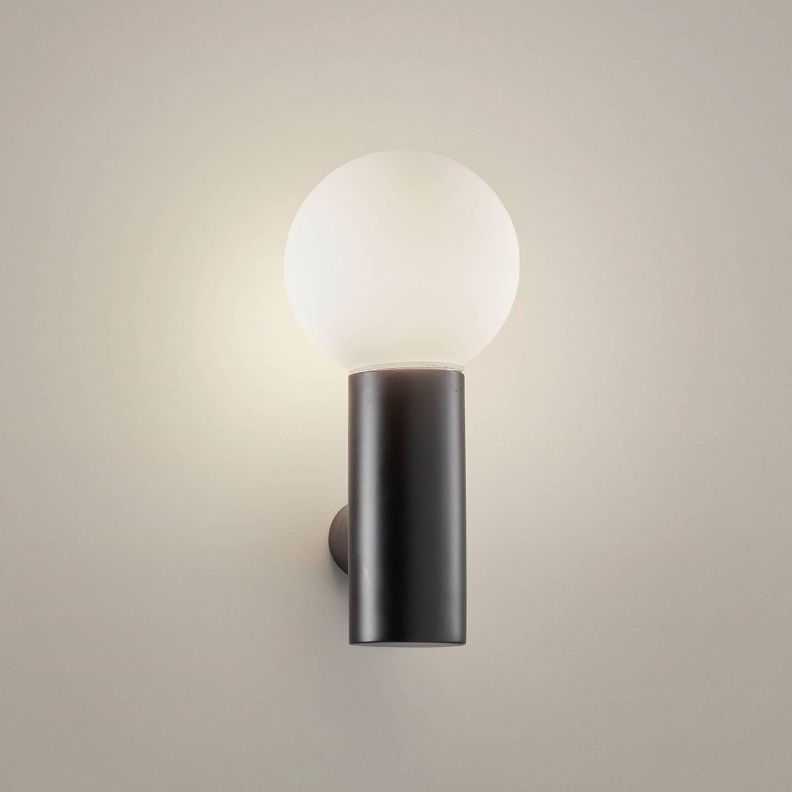 LEDS-C4 Mist - kylpyhuoneen seinälamppu, musta