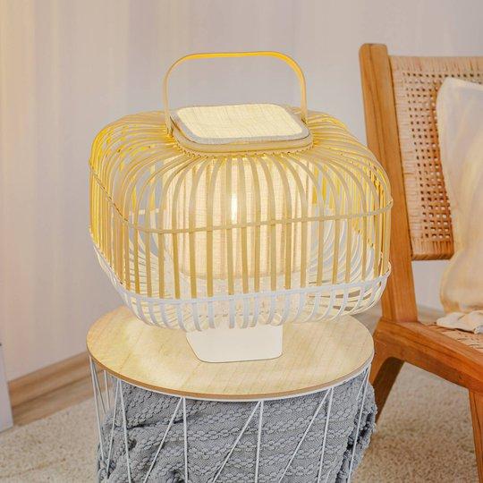 Forestier Bamboo Square S -pöytälamppu, valk.