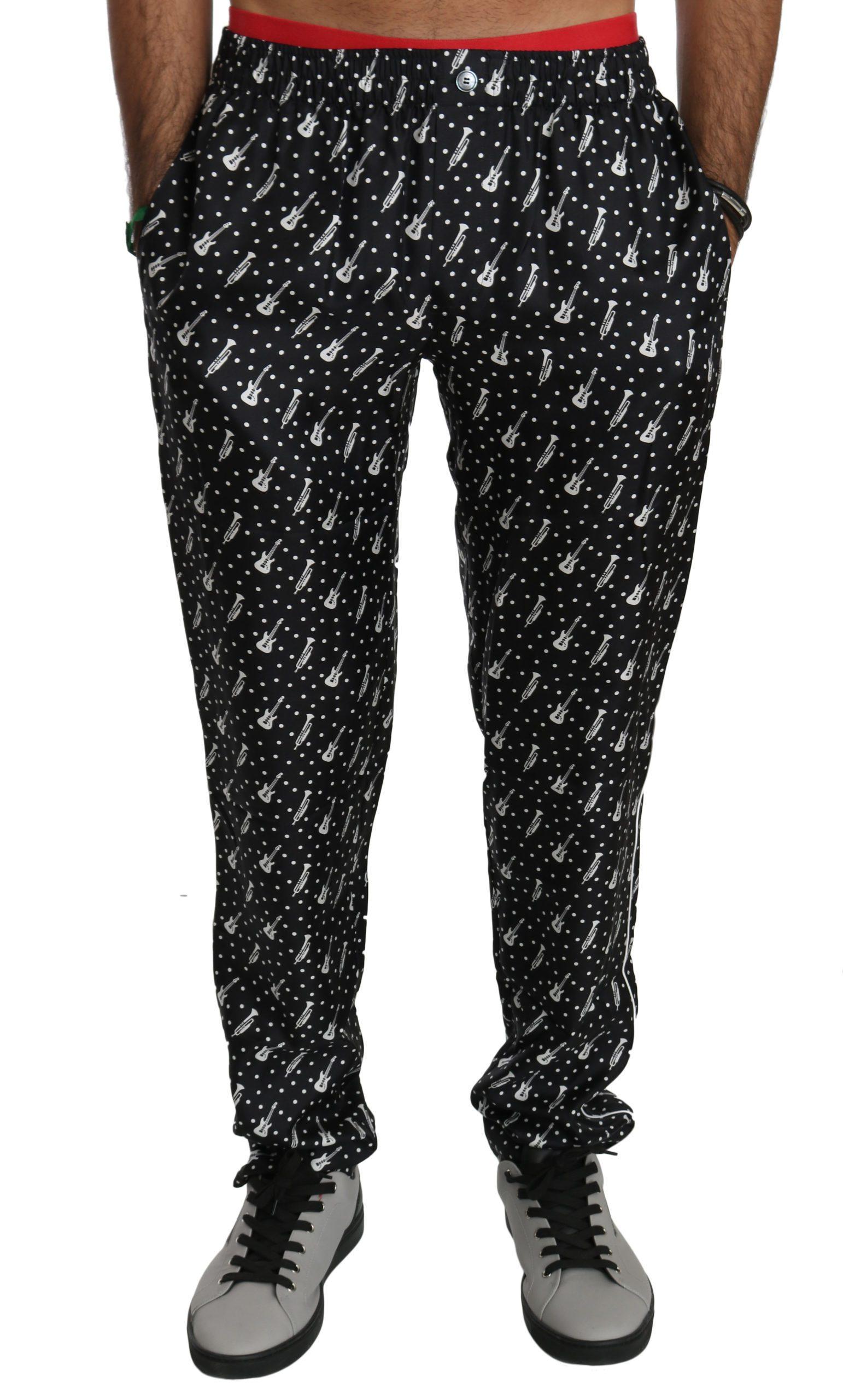 Dolce & Gabbana Men's Musical Instrument Trouser Black PAN70750 - IT54   XL