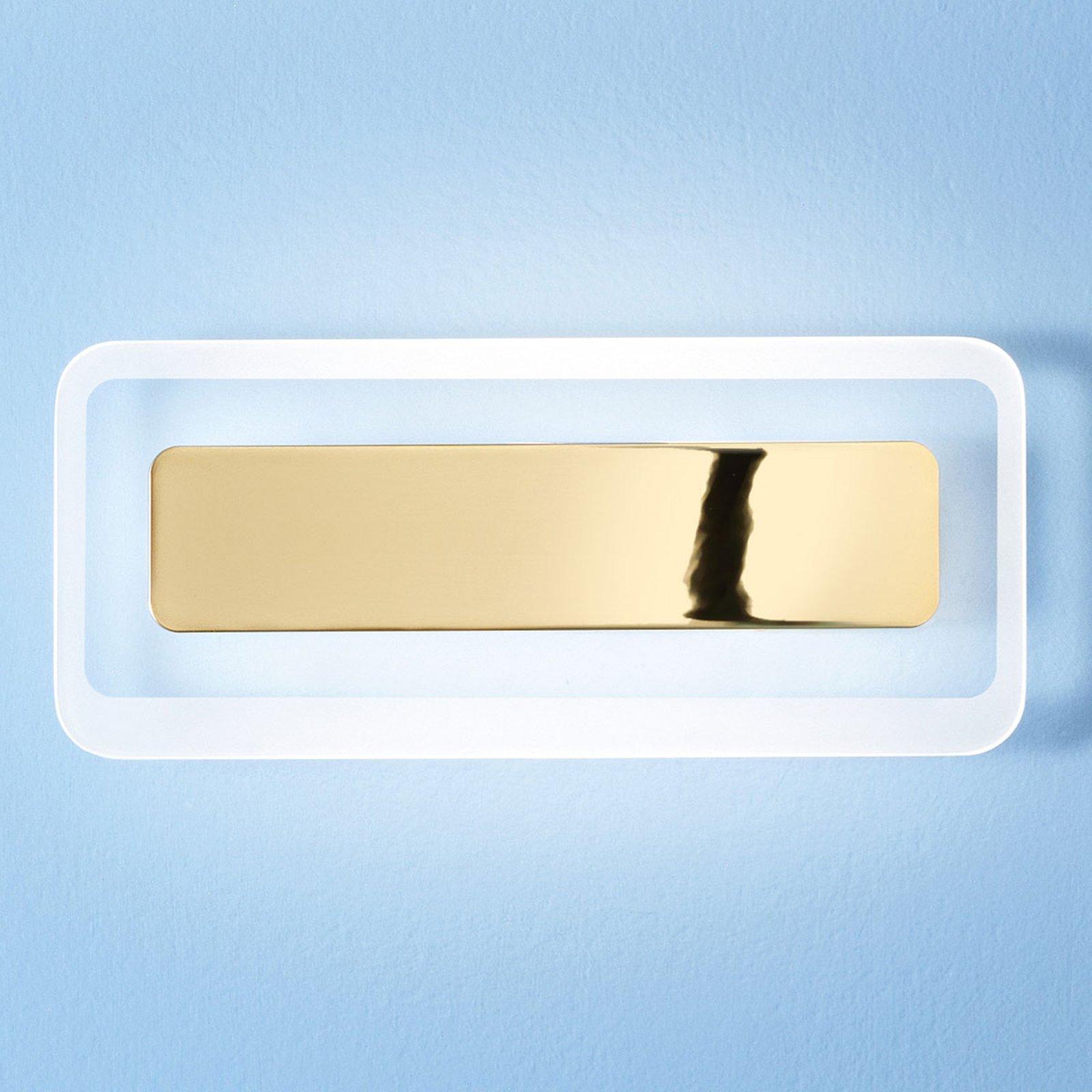Antille LED-vegglampe gull 31,4 cm