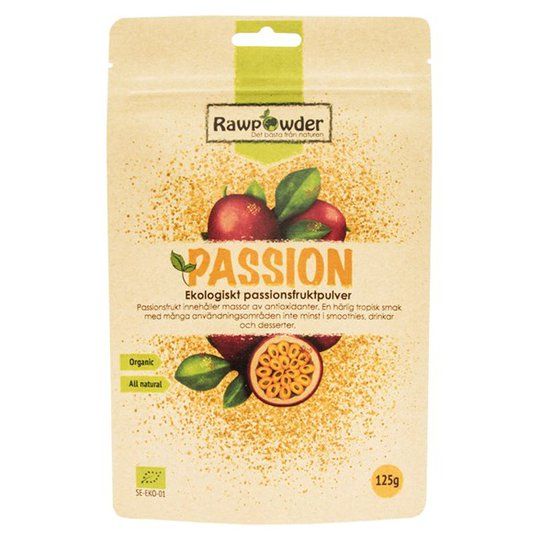 Rawpowder Ekologiskt Passionsfruktspulver, 125 g
