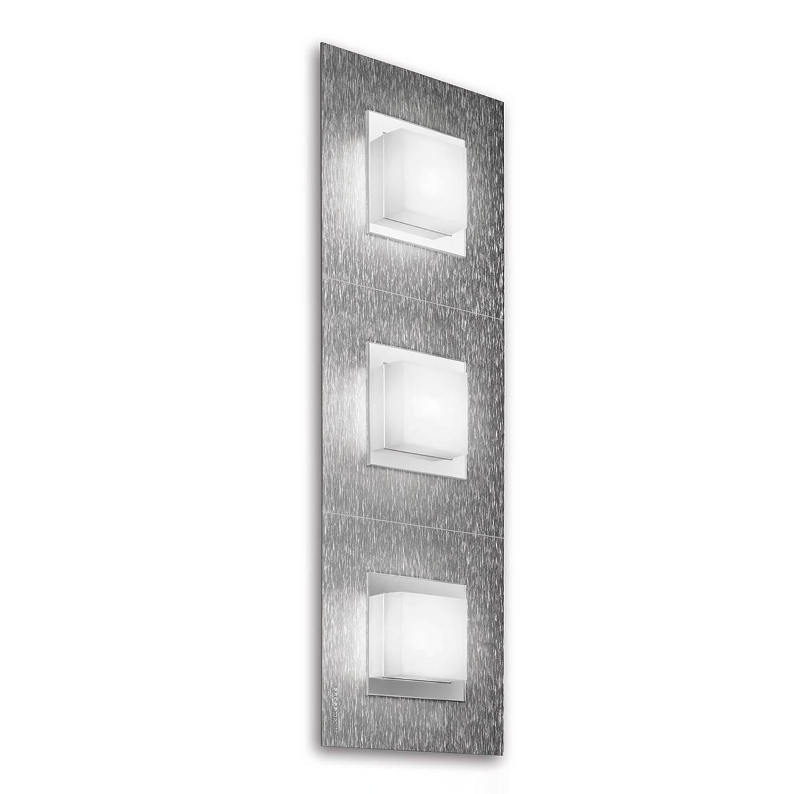 GROSSMANN Basic LED-vegglampe 3lk., aluminium