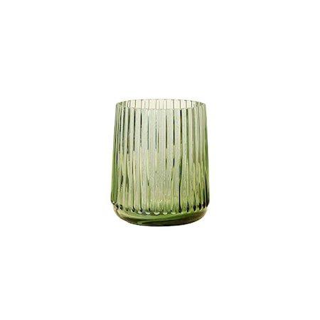 Glassvase Grønn S