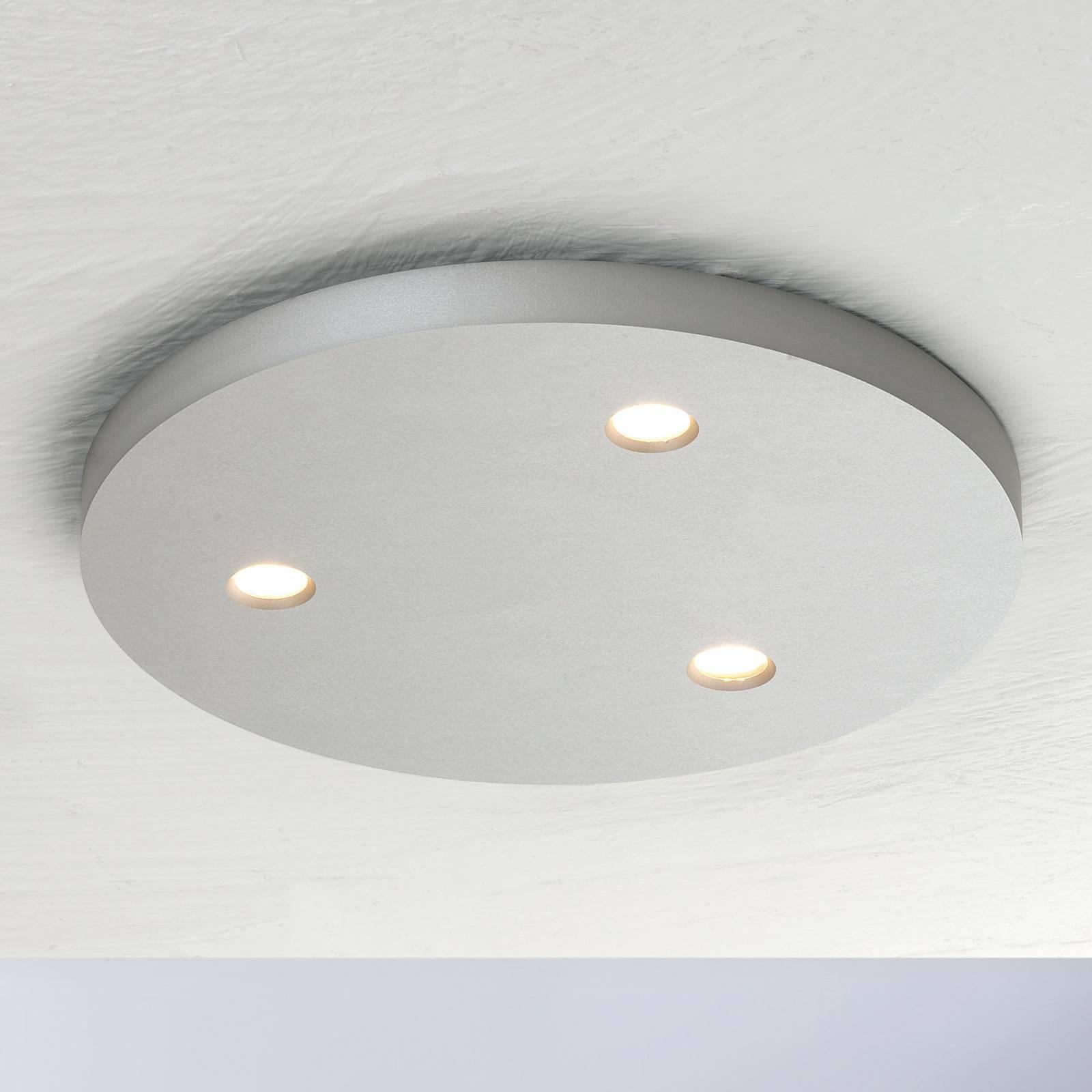 Bopp Close LED-kattovalaisin, 3-lamp., pyöreä alu