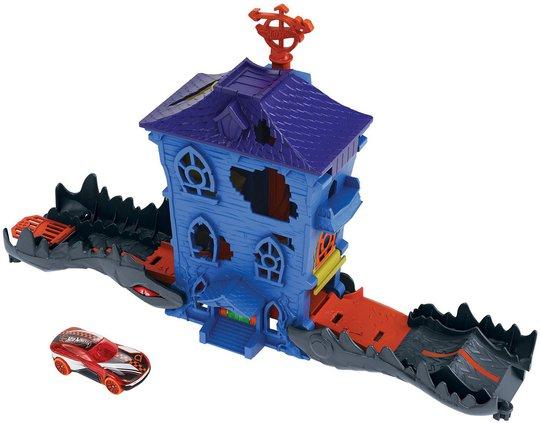 Hot Wheels City Lekesett Nemesis Angrep Croc Mansion