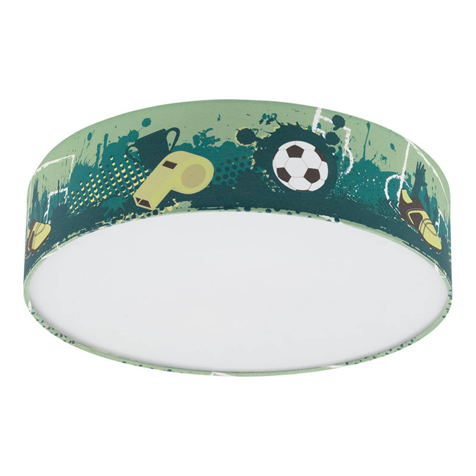 Taklampe Tabara med fotballmotiv, tekstil