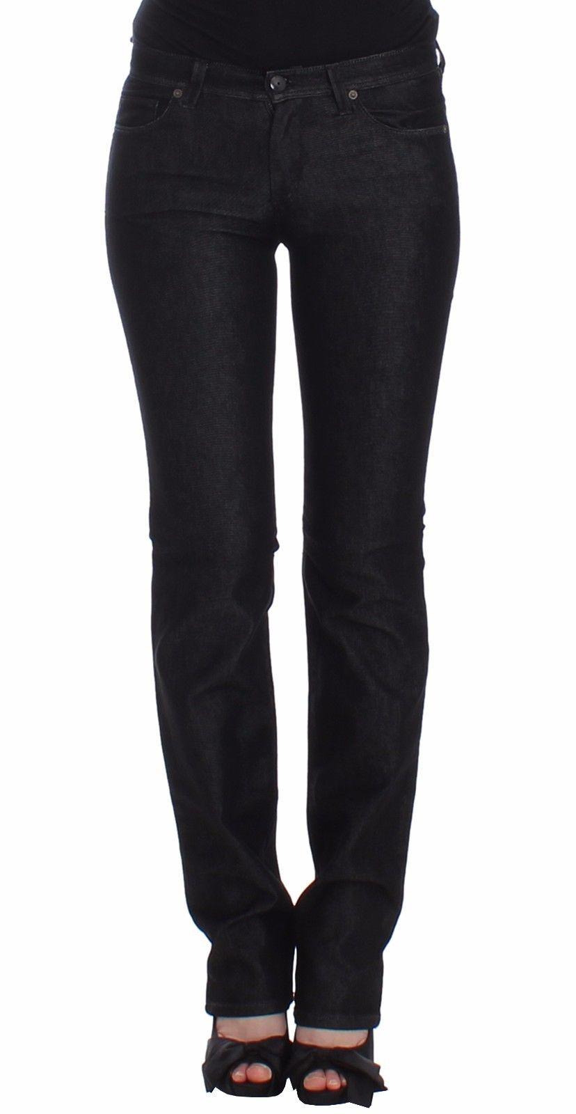 Ermanno Scervino Women's Slim Fit Jeans Black SIG12452 - W36