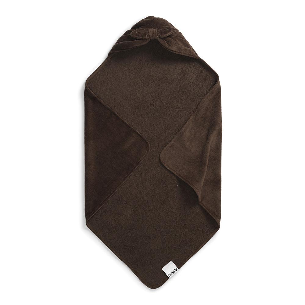 Hooded Towel - Chocolate Bow