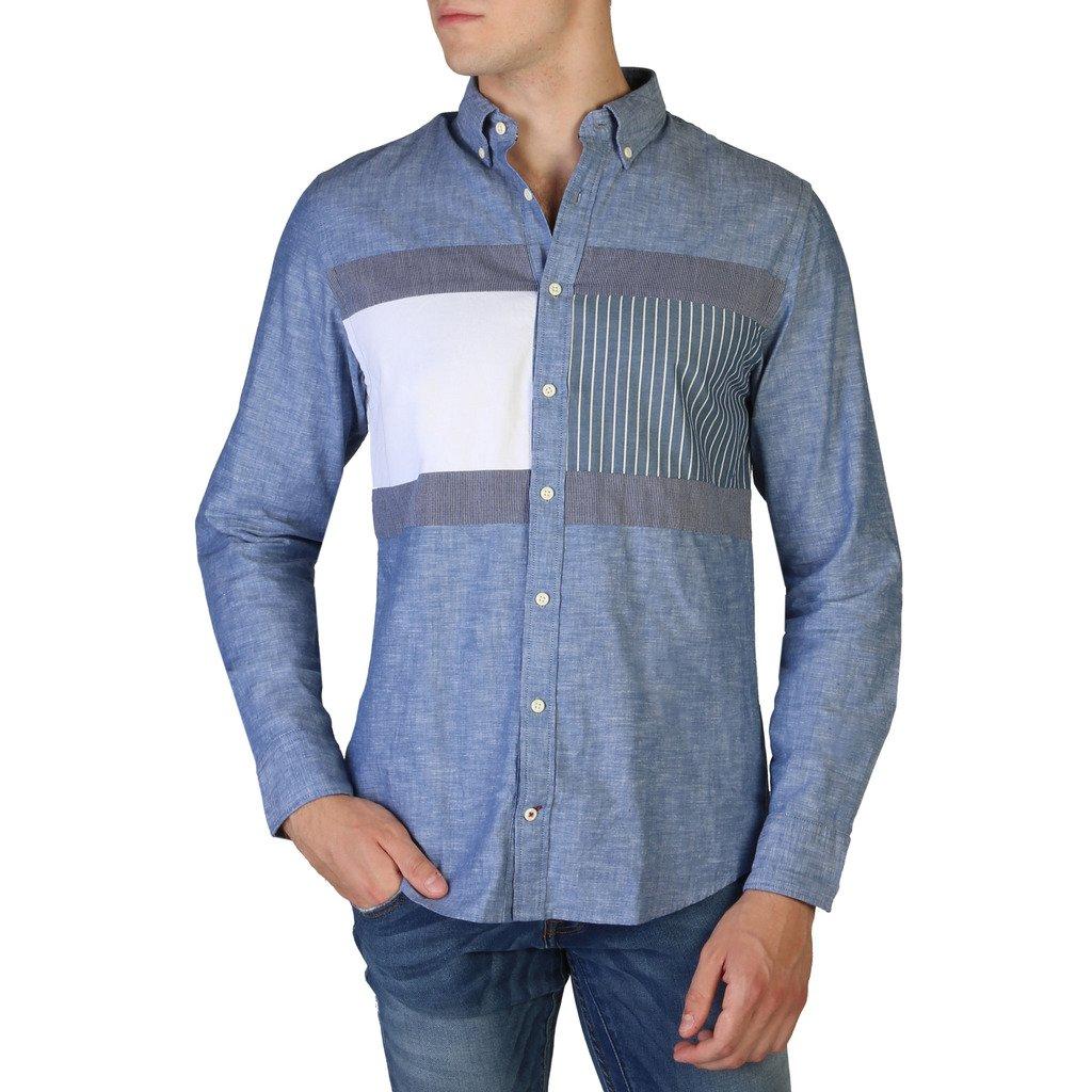 Tommy Hilfiger Men's Shirt Blue MW0MW06435 - blue S