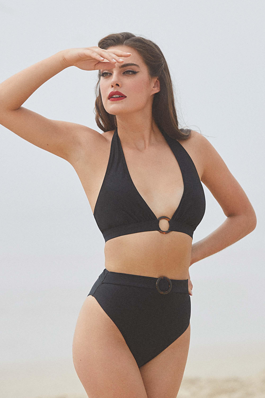 Bettie Page Eco Jayne Black Bikini Brief UK 12 / US 8
