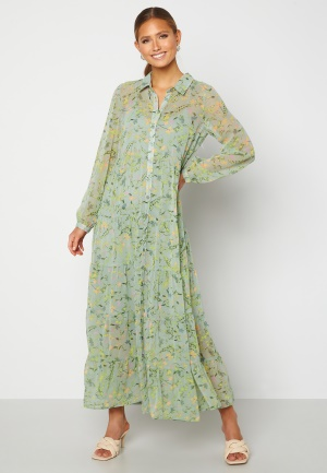 Happy Holly Elsie Maxi Dress Green / Floral 48/50