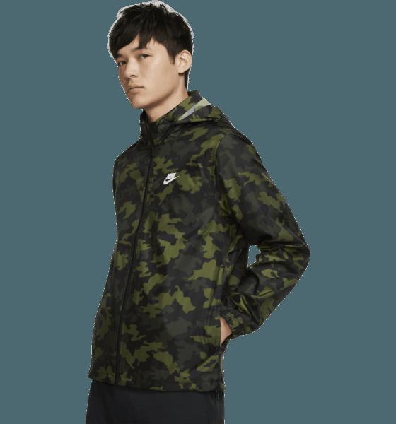 Nike M Ce Jkt Hd Windbreaker Camo Jackor LEGION GREEN/SUMMI