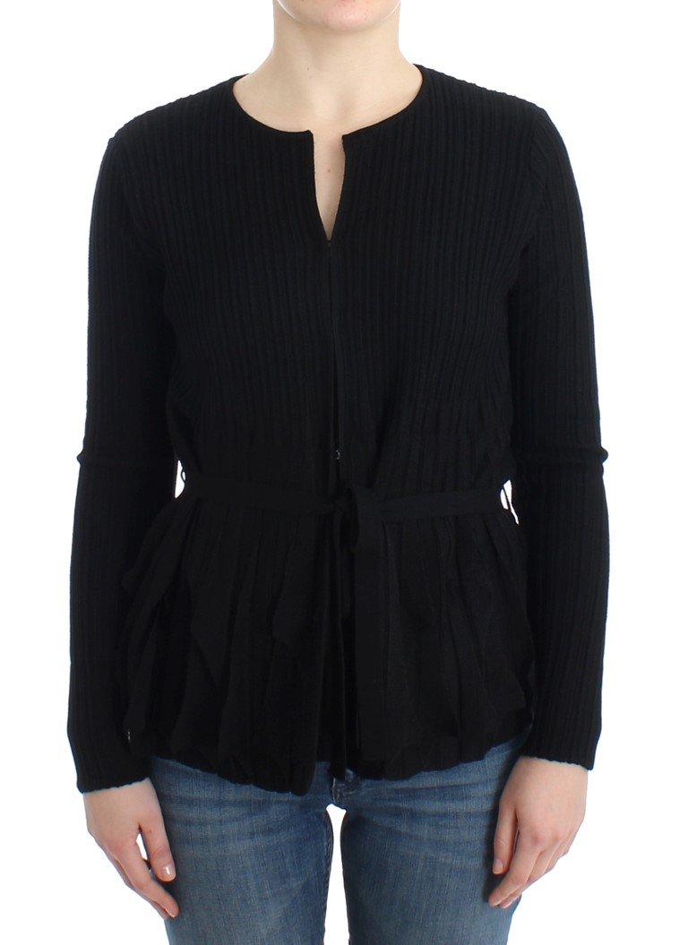 Cavalli Women's Wool Cardigan Black SIG11845 - IT44|L