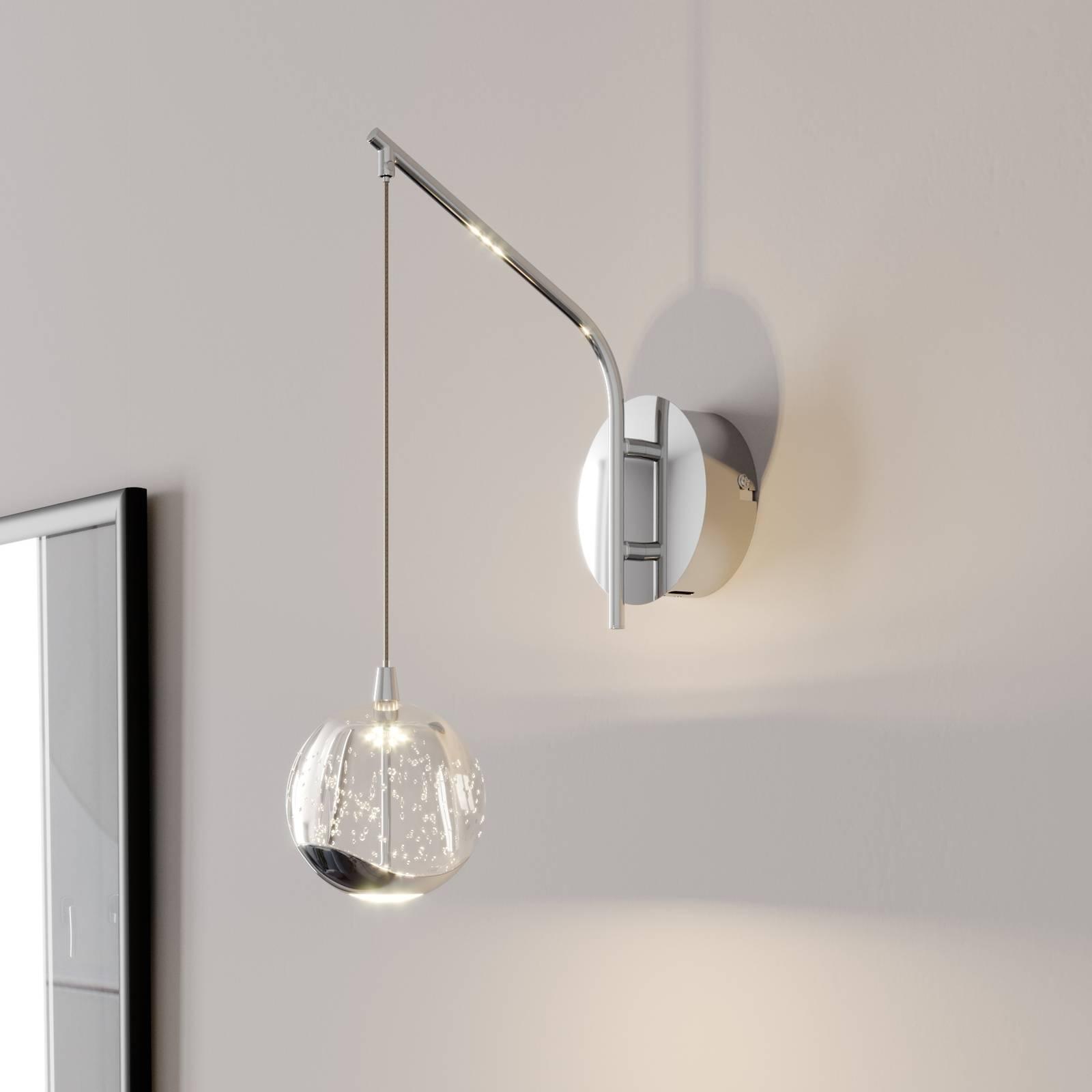 LED-seinävalaisin Hayley, riippuva pallo, kromi
