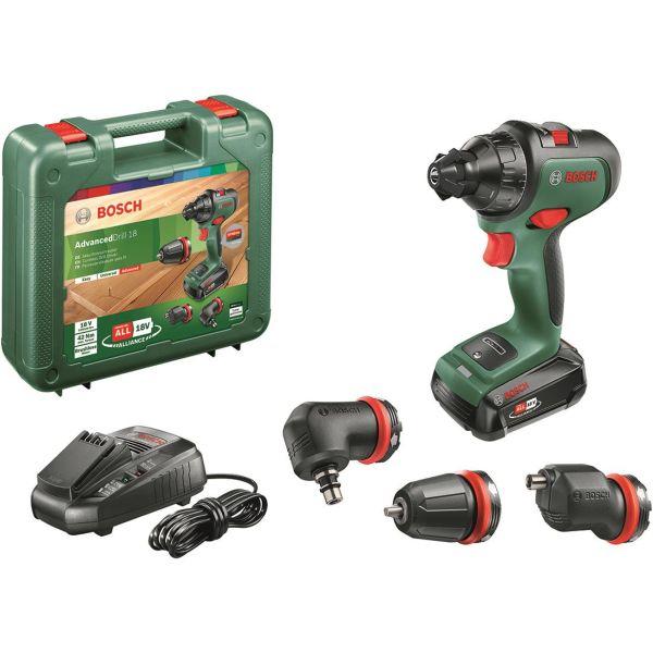 Bosch DIY Advanced Drill 18 Borskrutrekker med 1,5Ah batteri og lader
