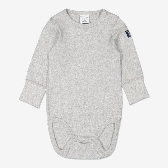 Ensfarget body baby gråmelange