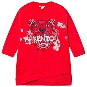 Kenzo Tiger Mjukis-klänning Röd 12 years