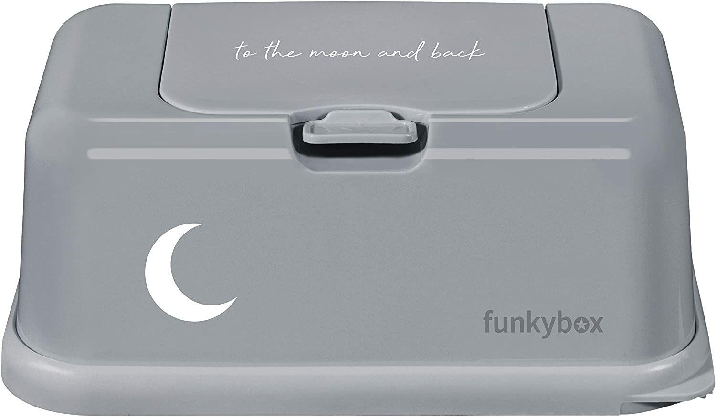 Funkybox Säilytysrasia Kosteuspyyhkeille Moon, Harmaa