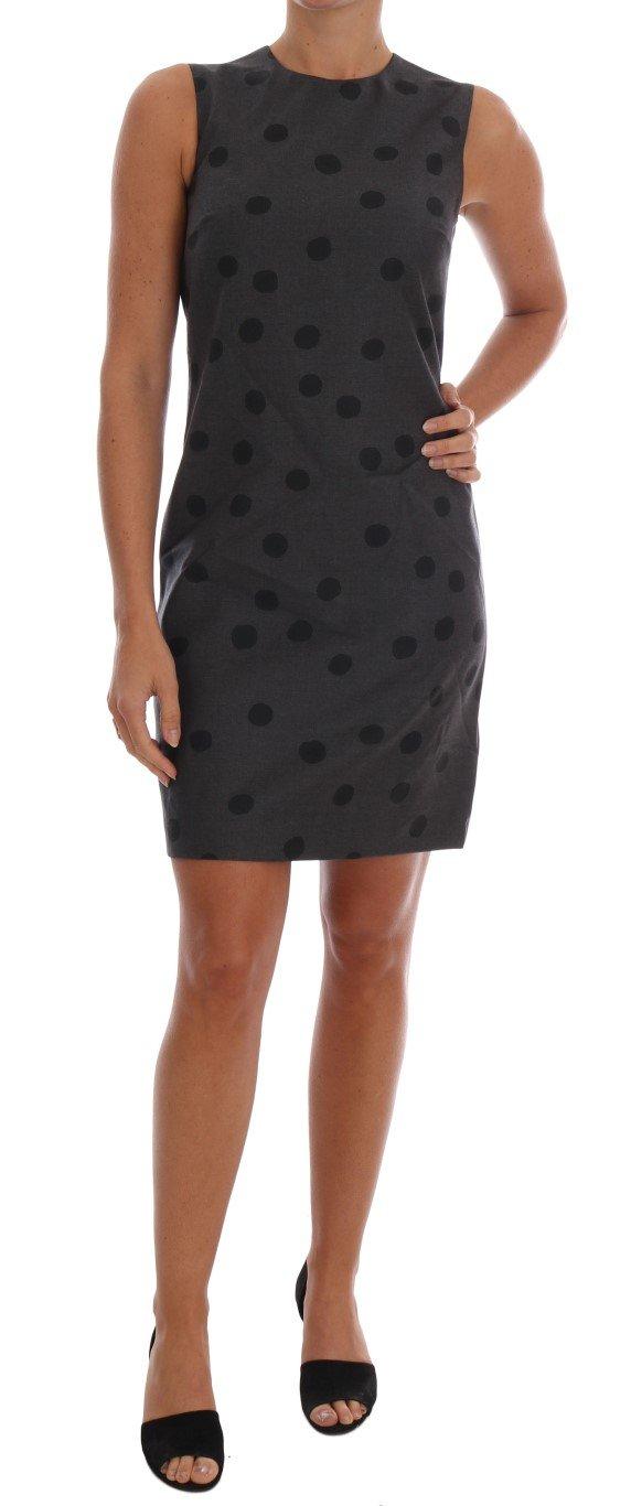 Dolce & Gabbana Women's Polka Dotted Sheath Wool Dress Gray DR1214 - IT38|XS