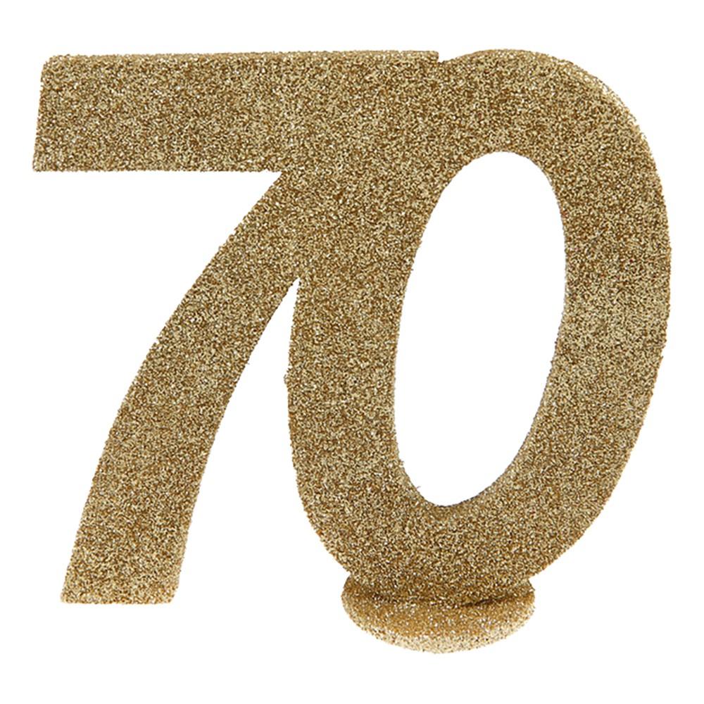 Bordsdekoration Siffra Guld/Glitter - Siffra 70