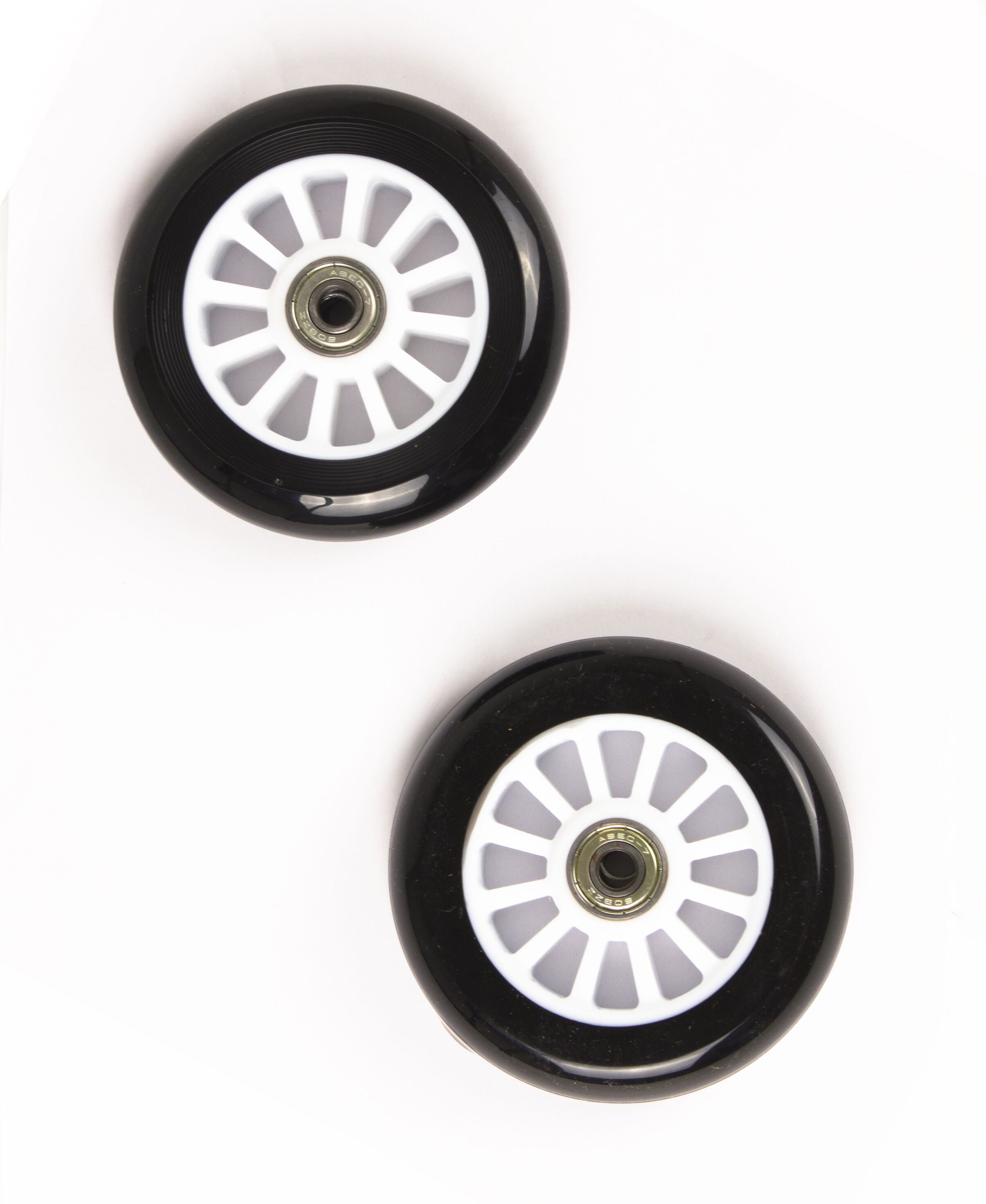 My Hood - 2 Wheels for Trick Scooters 100 mm - Black/White (505082)