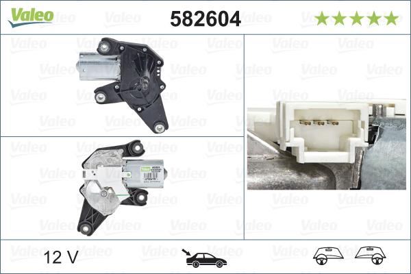 Pyyhkijän moottori VALEO 582604