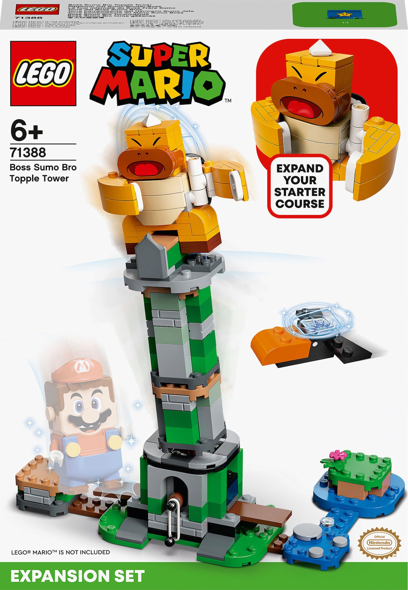 LEGO Super Mario 71388 Boss Sumo Bro Ja Huojuva Torni Laajennussarja