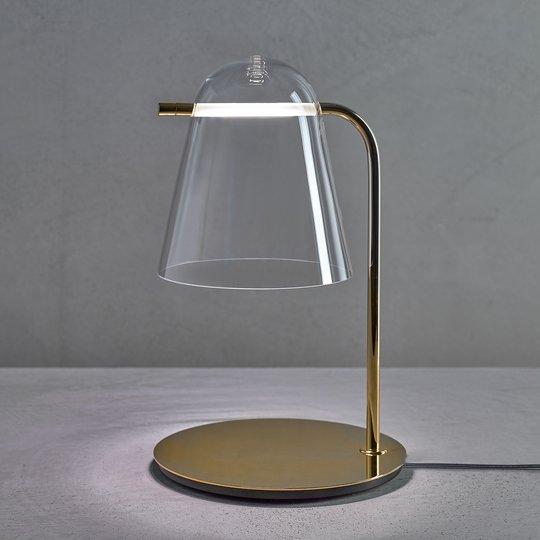 Prandina Sino T3 LED-bordlampe klar/gull