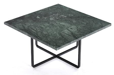 Ninety 60x60 soffbord - Grön indio/svartlackerad metallstomme