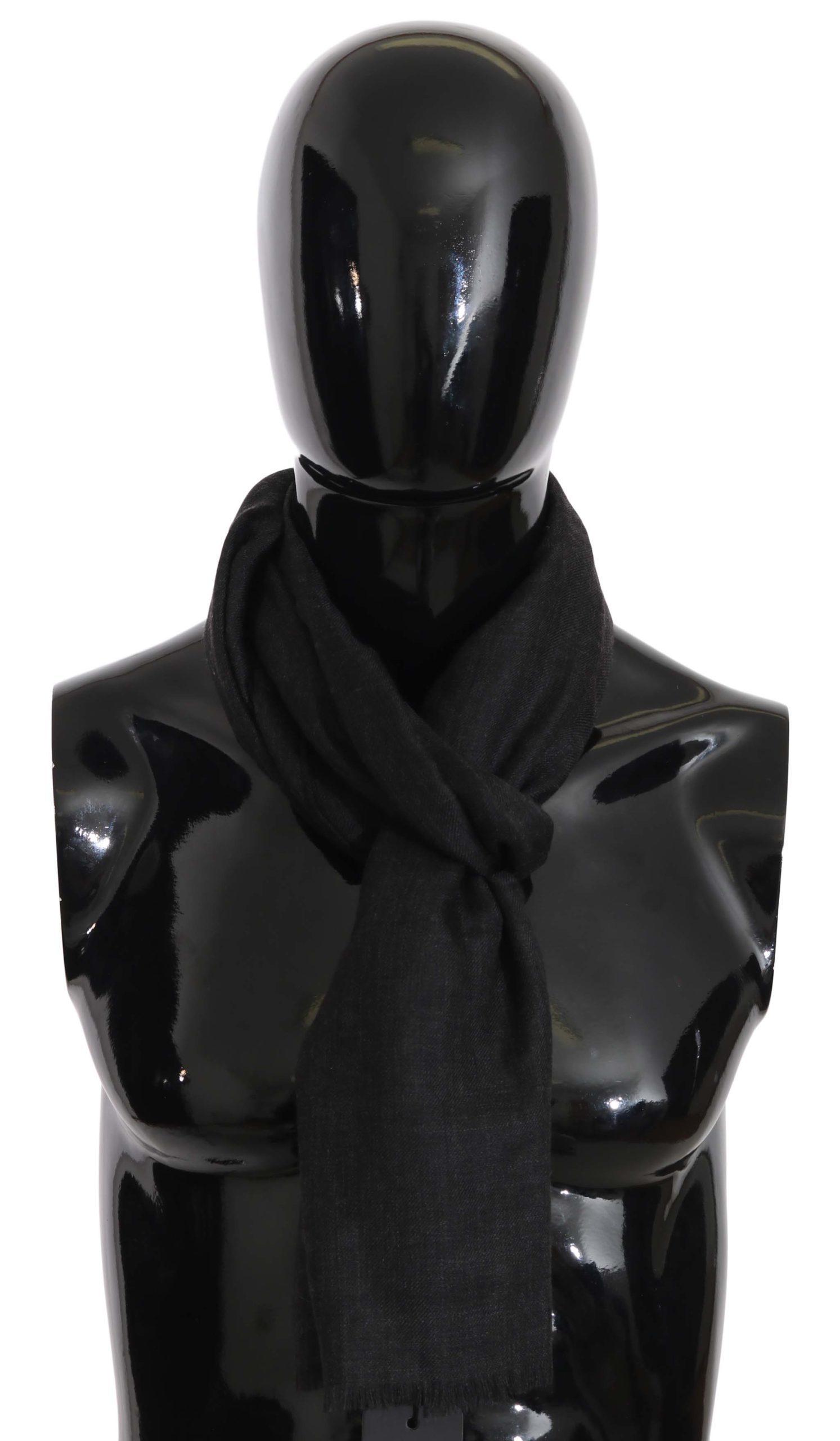 Dolce & Gabbana Women's Cashmere Pashmina Scarf Gray MS5030