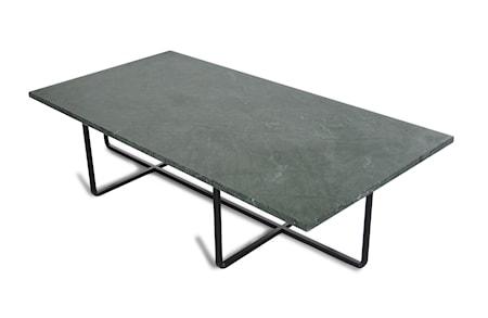 Ninety Table XL - Grön marmor/svartlackerad metallstomme H40 cm