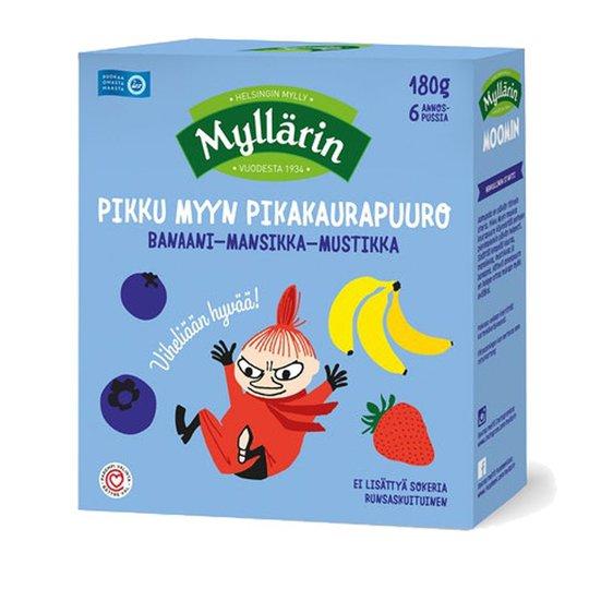Pikakaurapuuro Banaani, Mansikka & Mustikka - 23% alennus
