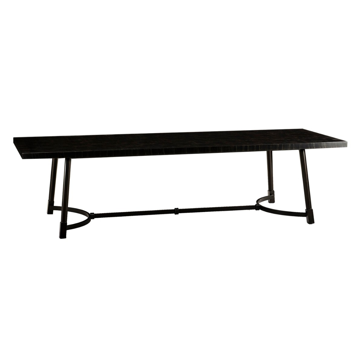 William Yeoward|Brinkston Dining Table Charcoal Marquetry