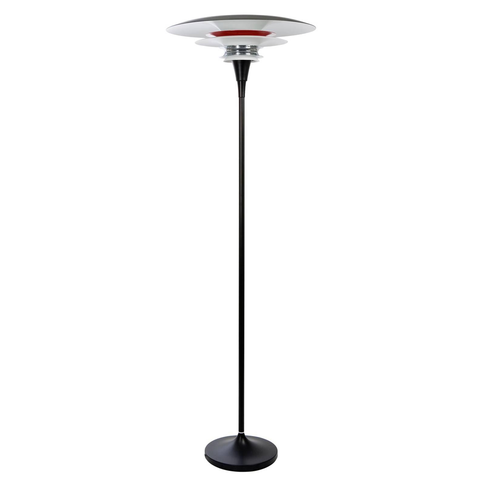 Integrert dimmer - stålampe Diablo svart rød