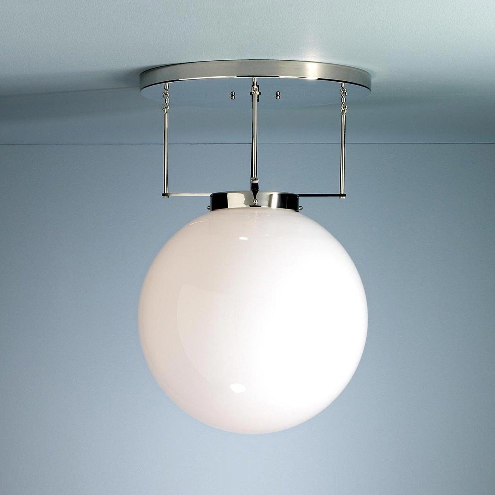 Brandts taklampe i Bauhaus-stil nikkel 35 cm