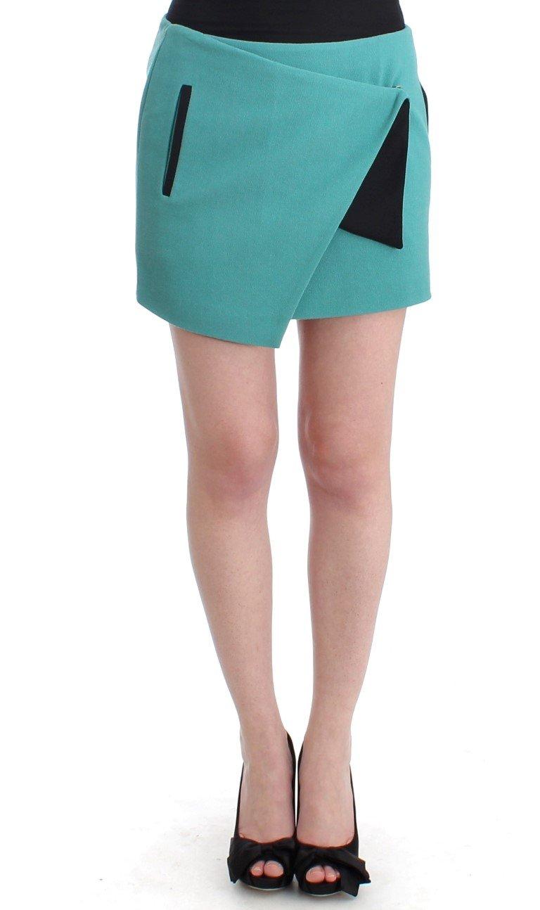 Costume National Women's Wrap Mini Skirt Blue SIG11641 - IT40 S