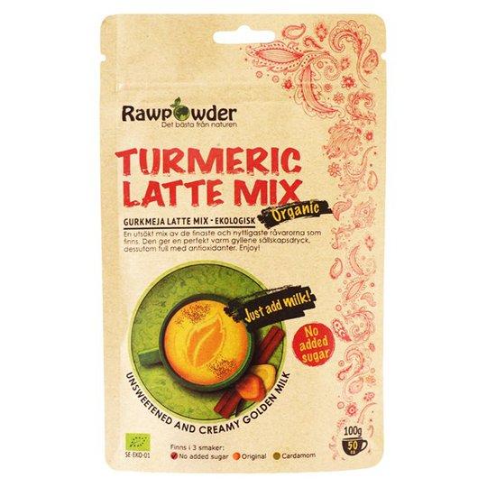 Rawpowder Ekologisk Lattemix Gurkmeja, 100 g