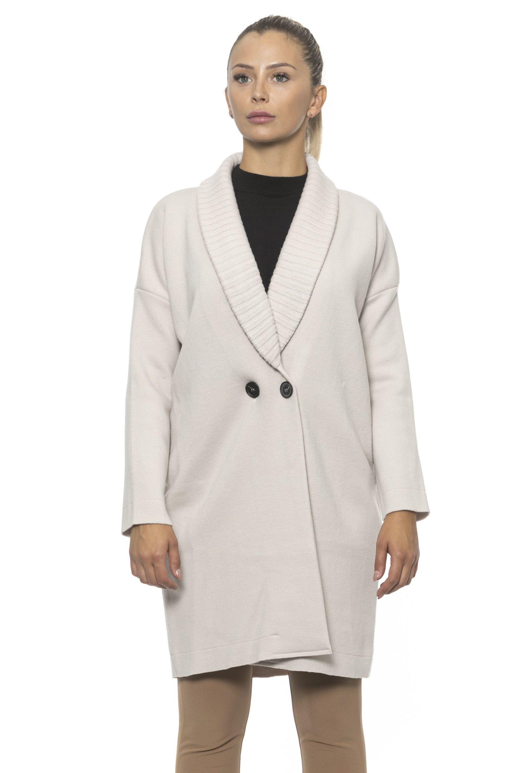 Alpha Studio Women's Coat White AL1314618 - IT40   XS