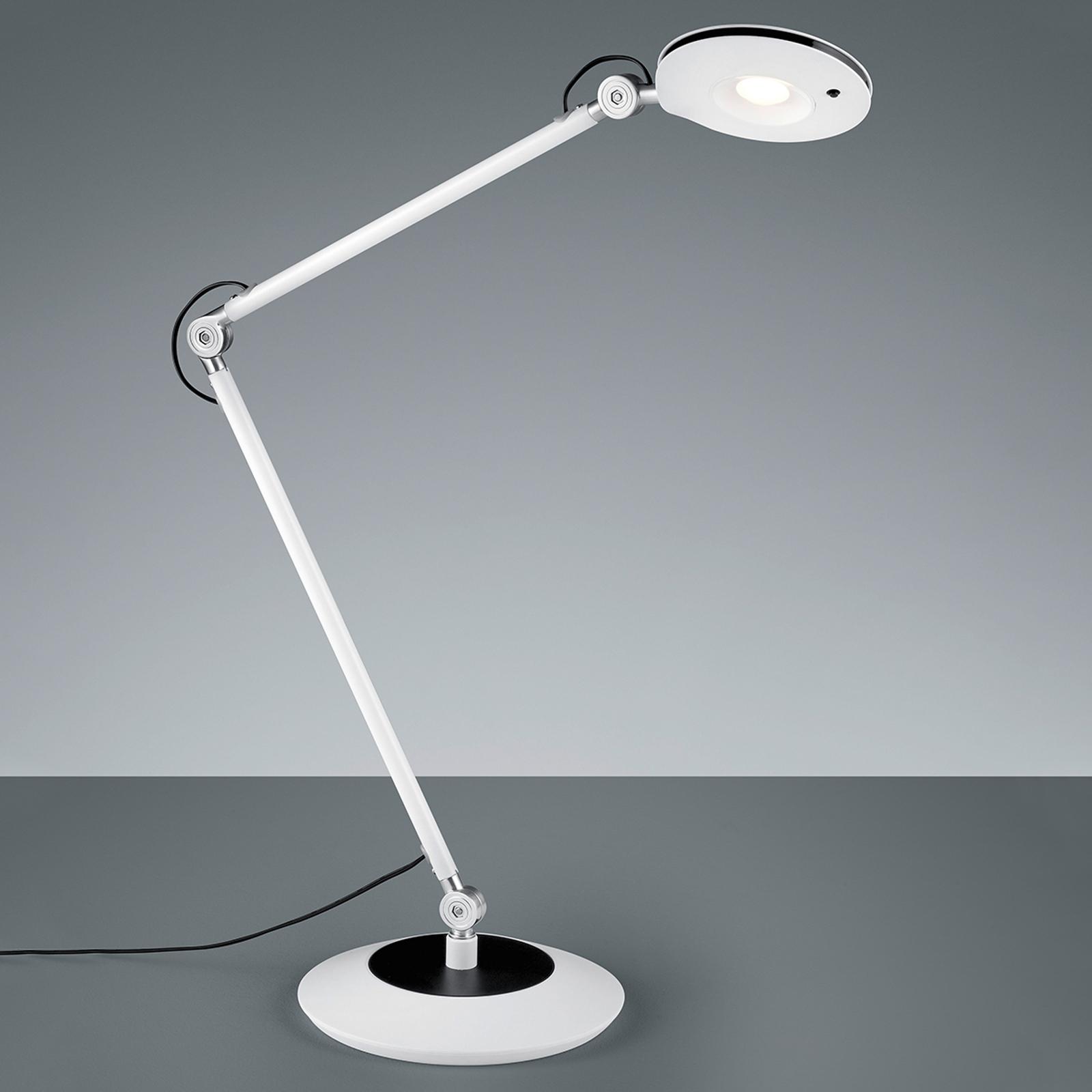 Nivelikäs LED-pöytälamppu Roderic valkoisena