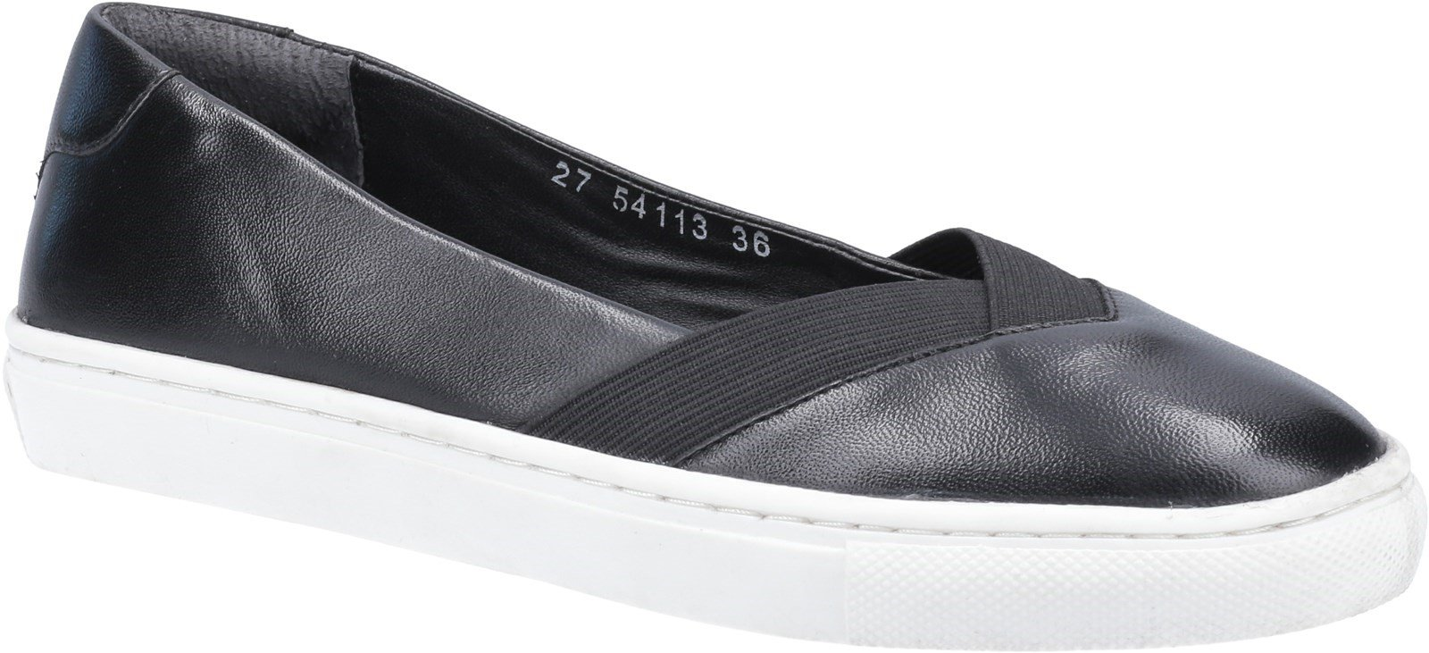 Hush Puppies Women's Tiffany Slip On Flat Shoe Various Colours 31962 - Black 5