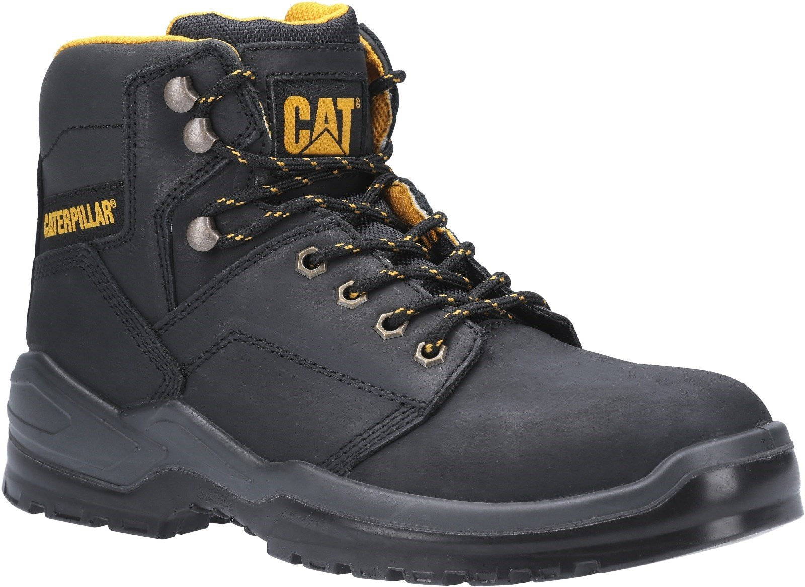 Caterpillar Men's Striver Lace Up Injected Safety Boot Various Colours 30702 - Black 6