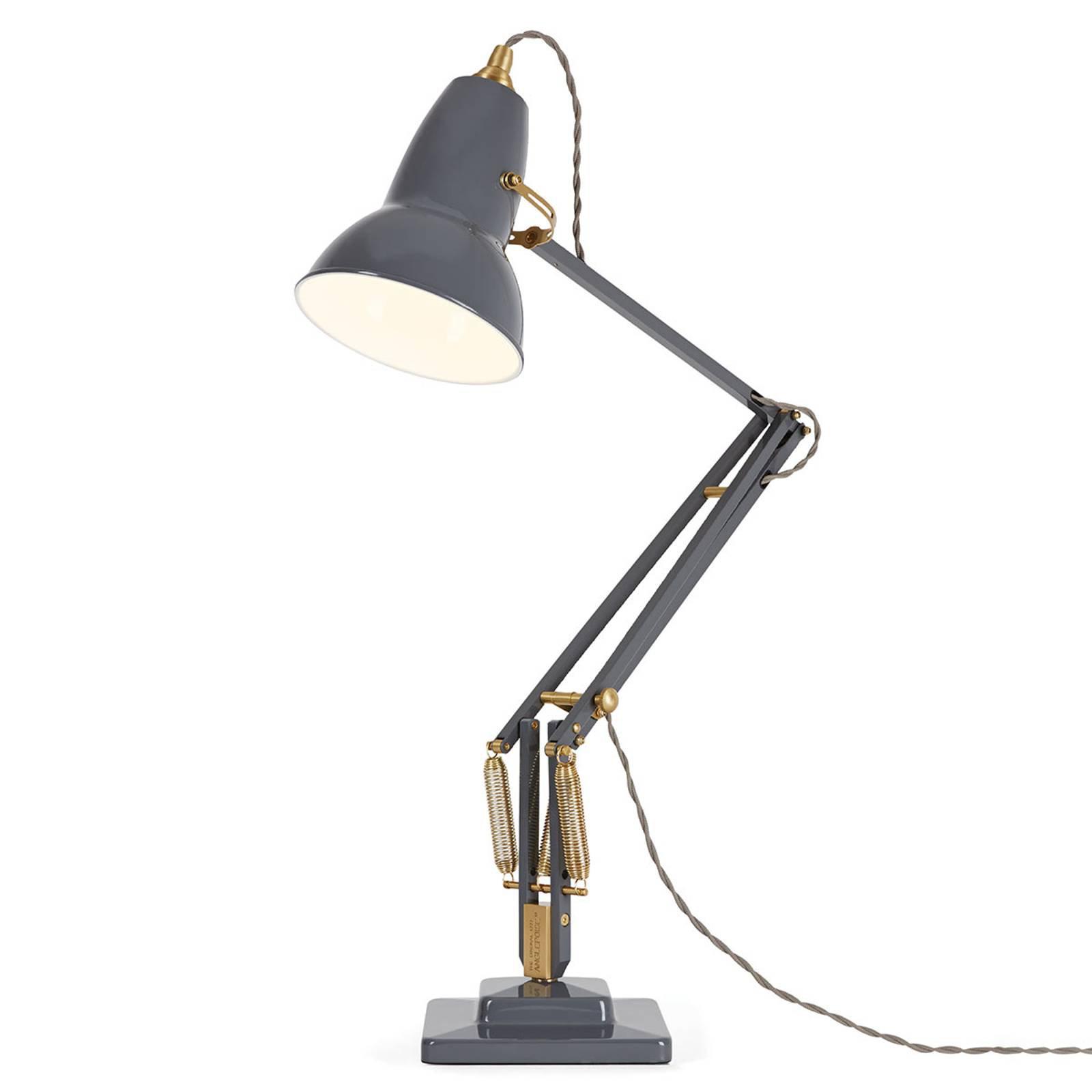 Anglepoise Original 1227 messing bordlampe grå