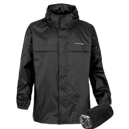 Trespass Kid's Waterproof Jacket Various Colours Packa - Black 5 to 6 Years