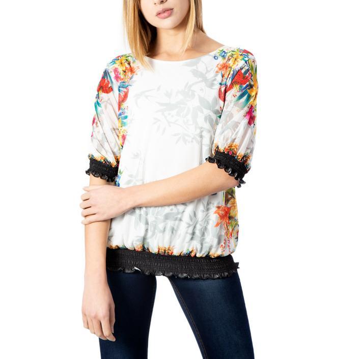 Desigual Women's T-Shirt White 170656 - white XS