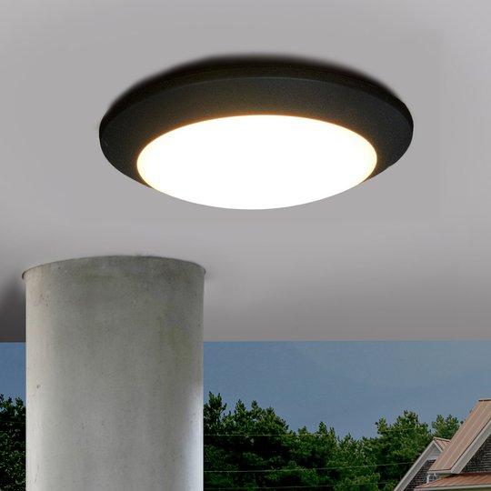 Berta-LED-ulkokattovalaisin, musta, 11 W, 3 000 K