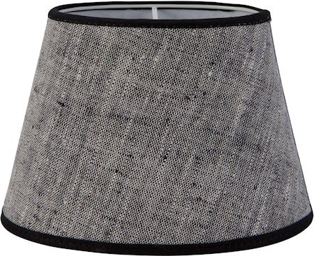 Oval Lampeskjerm Lin Grå 15 cm